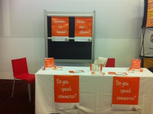 Your Commercial Foundations booth at the Co-operative Research Centres Association conference 2013